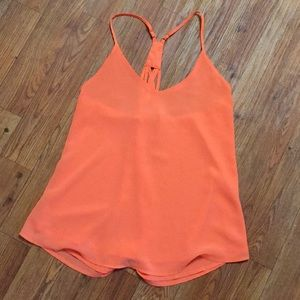 Flowing Orange Racerback Tank from Nordstrom Small
